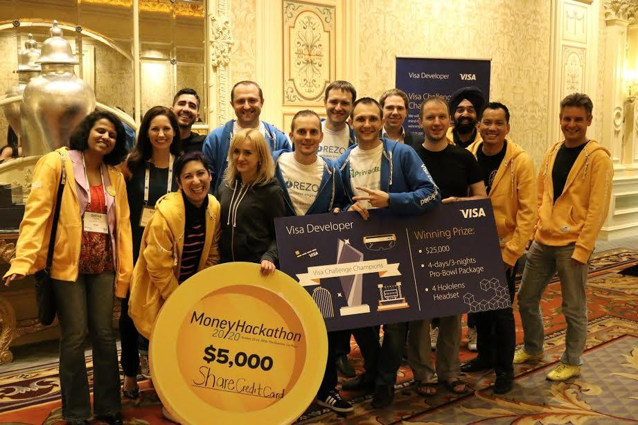 Share.CreditCard: Corezoid hits the jackpot in Las Vegas – team wins Visa Challenge at Money 20/20 Hackathon